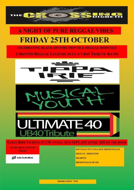 Pure Reggae Vibes – Musical Youth, Tippa Irie & Ultimate 40