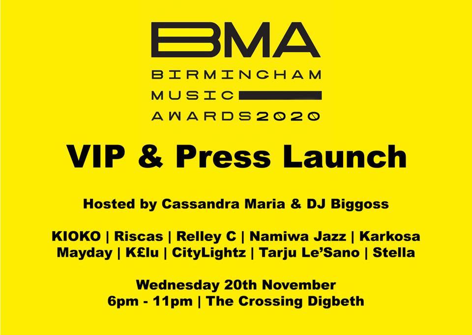Birmingham Music Awards 2020 – VIP & Press Launch