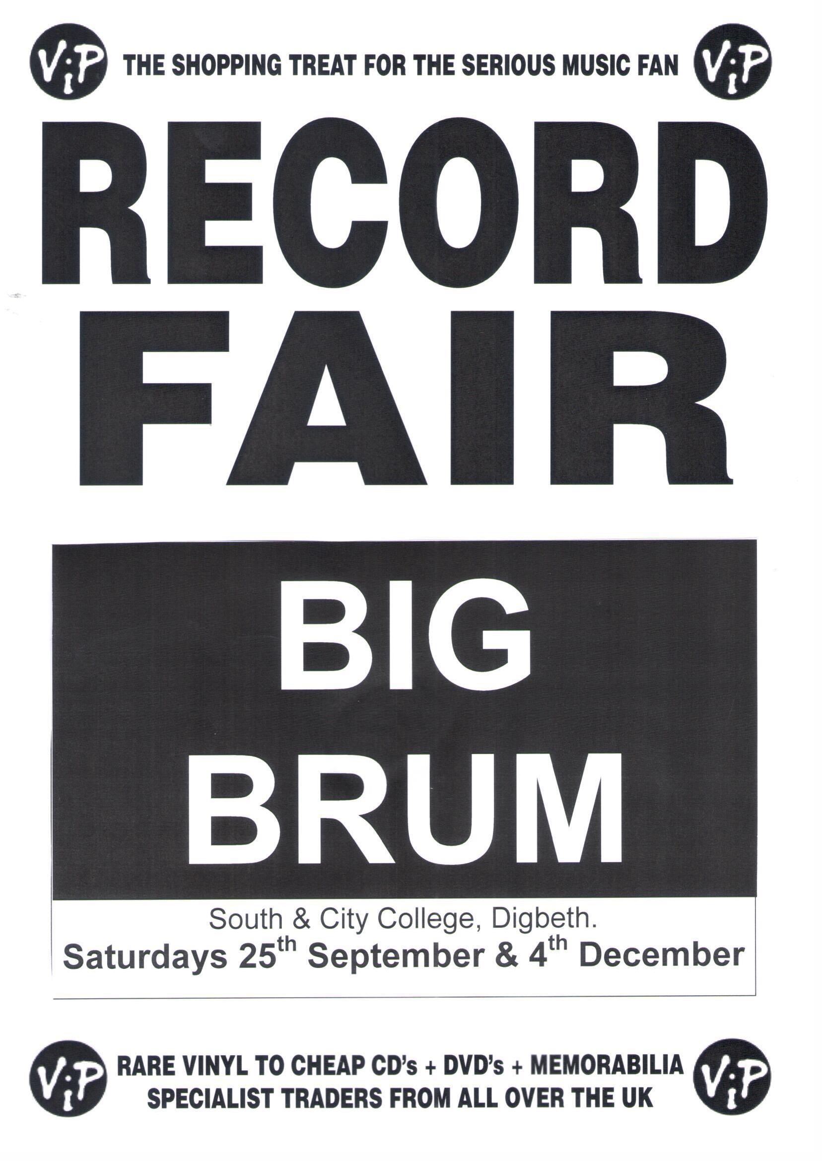 VIP Record Fair